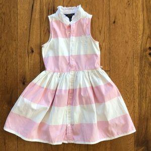Pink & White Striped Toddler Dress